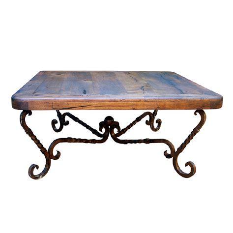 Western Furniture: Iron Twist Square Coffee Table Lone
