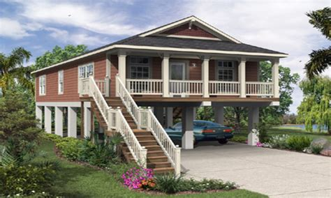 elevated florida house plans raised beach house plans elevated home designs treesranchcom