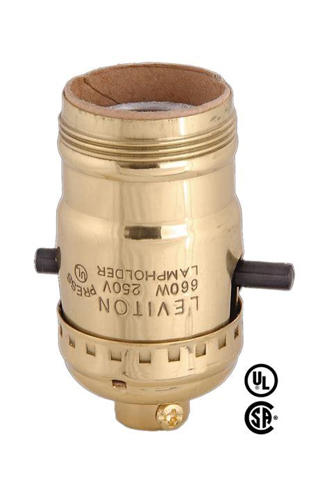 uno socket l base leviton brand push thru socket w uno thread 40202g b p