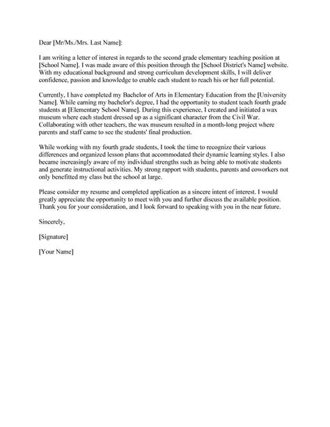 letter of interest for a 30 amazing letter of interest sles templates