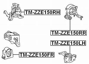Front Engine Mount For Toyota Auris Hybrid Zre15   2007