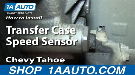 install replace transfer case speed sensor