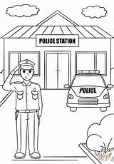 Police Coloring Station Clipart Fire Thank Printable Template Drawing Truck London Kindergarten Letters Paper Dot Sketch Supercoloring Categories sketch template