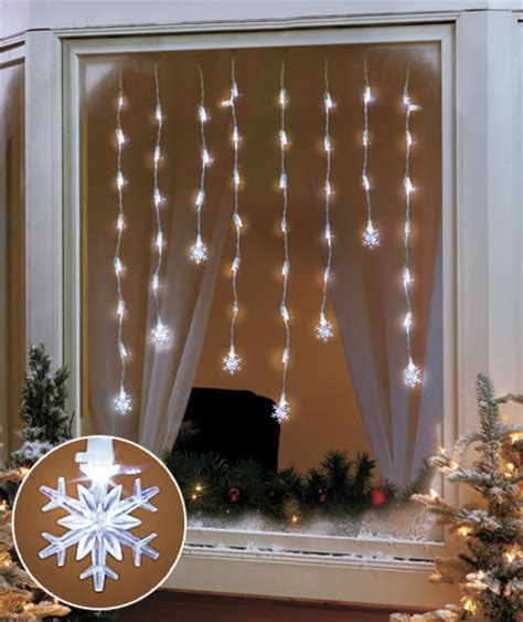 snowflake led window hanging icicle lights indoor home decor ebay