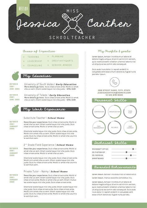 teacher resume cv design cover letter template