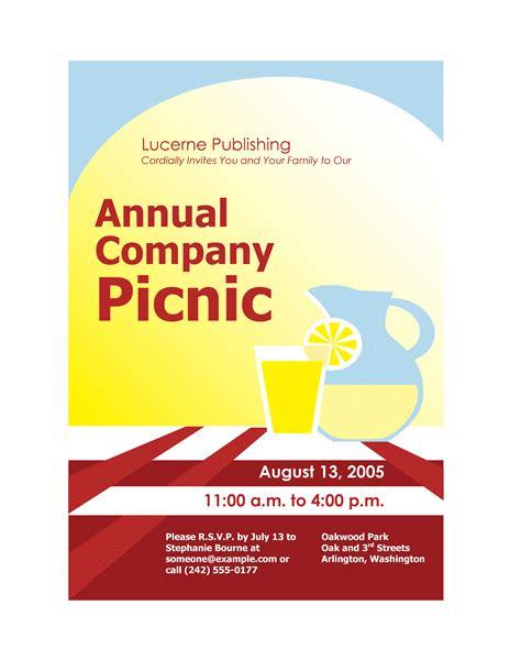 printable picnic invitations templates