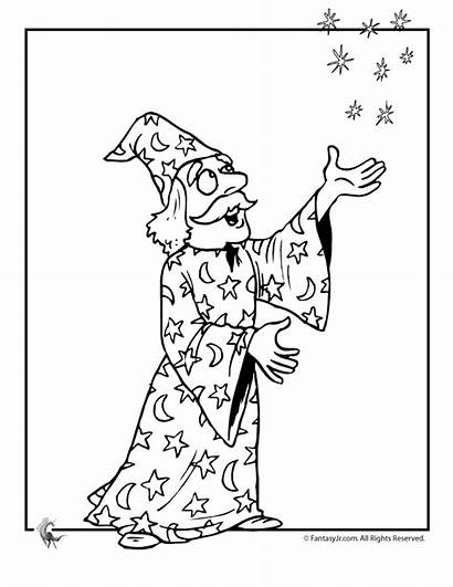Wizard Coloring Pages Wizards Magic Michael Windy
