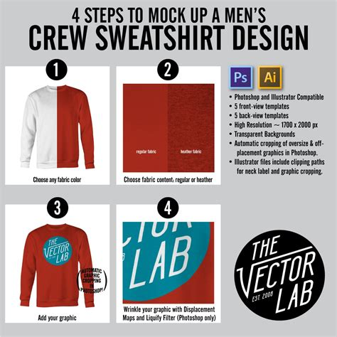 Crew Neck Mock Up Template by Men S Crew Neck Sweatshirt Mockup Templates Thevectorlab