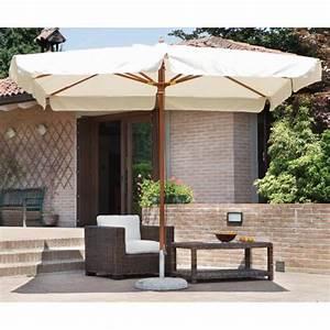 La Maison Du Parasol : parasol centr rectangulaire 3 x 4 m coloris bois teck ~ Dailycaller-alerts.com Idées de Décoration