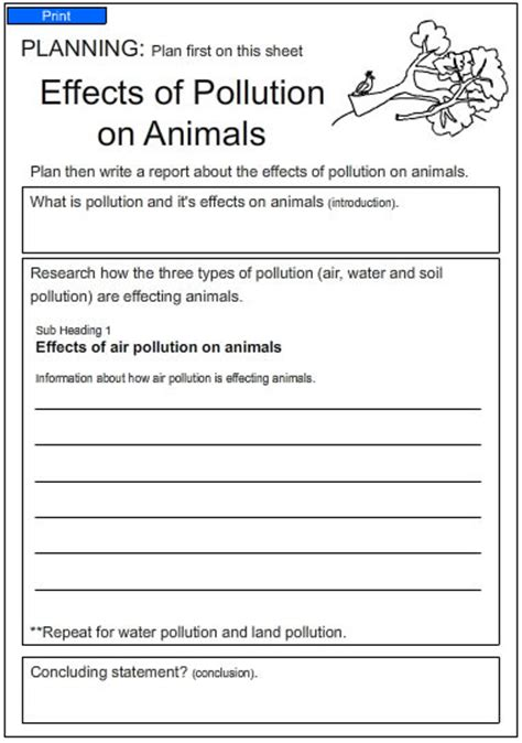 Effects Of Pollution On Animals, English Skills Online, Interactive Activity Lessons