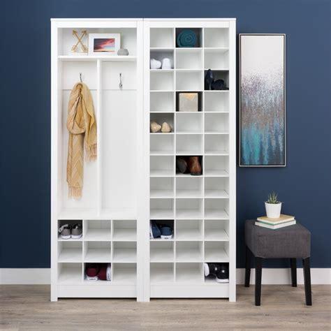 space saving shoe storage cabinet prepac space saving 36 cubby shoe storage cabinet in white