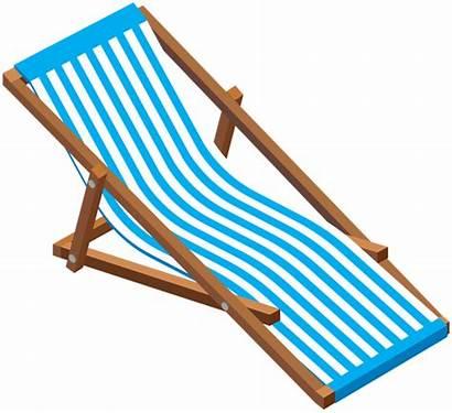 Chair Beach Clip Transparent Lounge Clipart Chaise