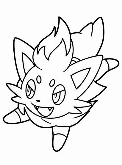 Pokemon Coloring Zorua Ausmalbilder Kleurplaten Animaatjes Sheets