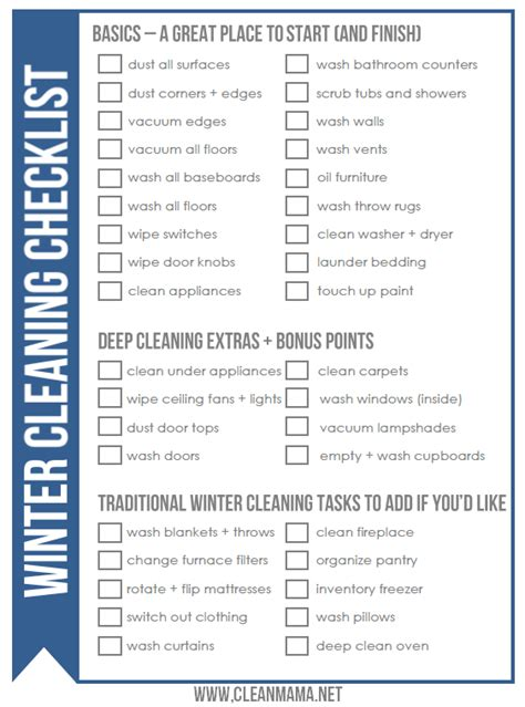 winter cleaning checklist clean mama