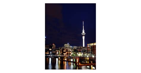 Auckland City, New Zealand At Night Postcard Business Card Size Canada Templates Housekeeping Cards Powerpoint Japan For Salon Taxi Free Adobe Illustrator Letterhead Doc