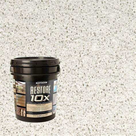 rust oleum restore  gal white deck  concrete