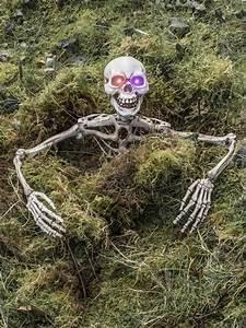skelett torso mit leuchtaugen 70cm halloween deko weiss ebay With französischer balkon mit halloween deko garten
