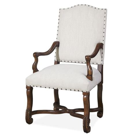 paula deen home dogwood upholstered dining arm chair in