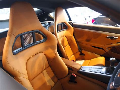 Porsche Amber Orange Owners, Orange Tan Beige And Black
