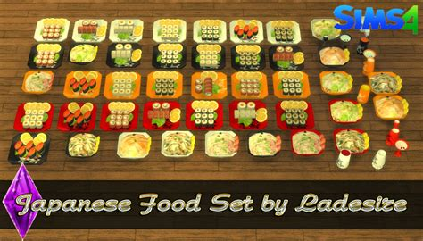 mod鑞es cuisine http ladesire thesims3 com es 2015 05 japanese food set by ladesire html japanese sims 4 japanese food sims and food