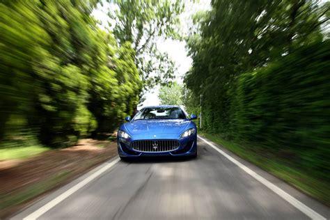 maserati road gallery blue maserati granturismo sport on the road