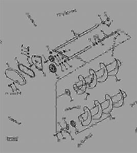 Auger And Auger Frame - Baler John Deere 348 - Baler
