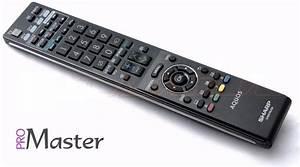 Sharp Tv Remote Control Lcd  Led Ga 841 Wjsa Aquos Replace