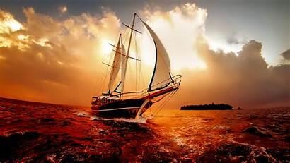 Background Desktop Boat Sea Backgrounds Sailboats