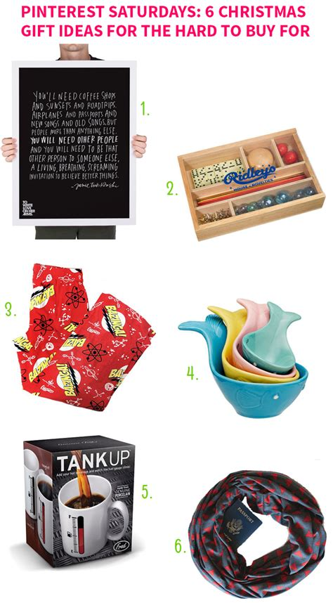 Pinterest Saturdays 6 Christmas Gift Ideas For The Hard