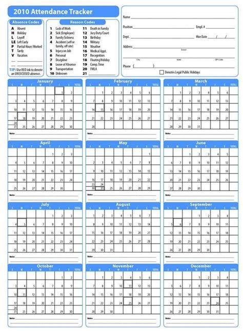 employee attendance calendar attendance sheet