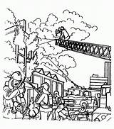 Coloring Fireman Pages Coloringpages1001 sketch template