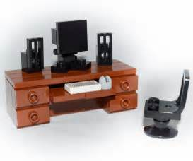 lego furniture computer desk set w keyboard monitor mouse speakers chair ebay