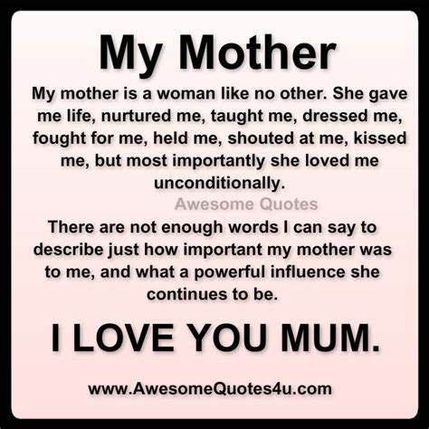 awesome quotes  love  mom