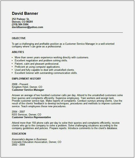 Customer Service Resume Skills by Customer Service Skills For Cv Resume Template Cover