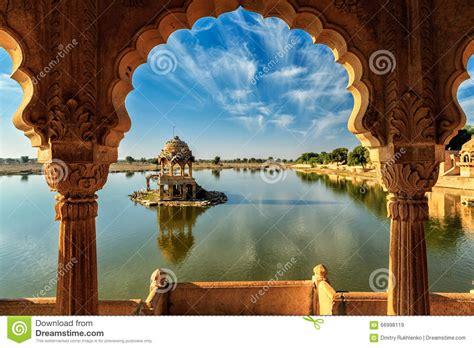 Indian Landmark Gadi Sagar In Rajasthan Stock Image ...