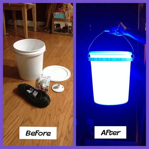 awesome lights  hubby     gal buckets  hang  tress    camping trips