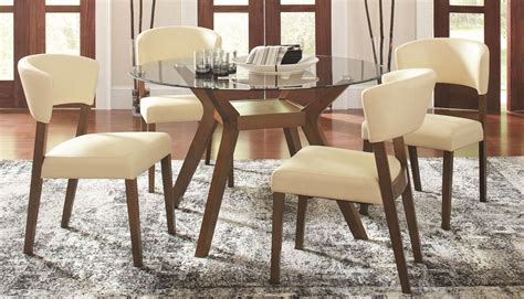 paxton  glass dining room set  coaster
