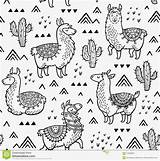 Coloring Llama Designed Many sketch template