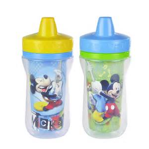 Mickey And Minnie Mouse Bath Decor by Mickey Mouse 2 Pack Insulated Spill Proof Sippy Cups From