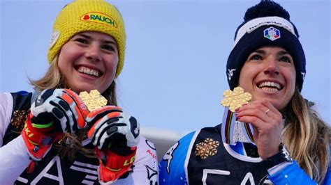 Basino uzvara paralēlajā slalomā atnes mājiniekiem pirmo ...