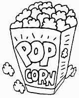 Popcorn Coloring Printable Pop Sheet Corn Ins Snack Colored Sheets Easy Fun Drawings Outline Coloringpagesfortoddlers Container Kolorowanka Adult Doghousemusic Fruits sketch template