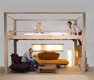 Lit Gain De Place : lit mezzanine adulte et am nagement de petits espaces ~ Premium-room.com Idées de Décoration