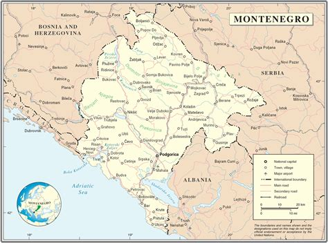 Find articles, fast facts, flags, and other information on the culture, geography, and history of every country on earth. Montenegro Map • Mapsof.net
