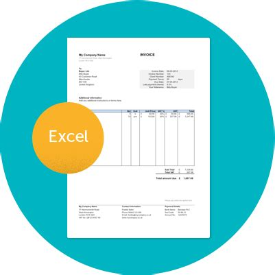 invoice template uk excel  google  word