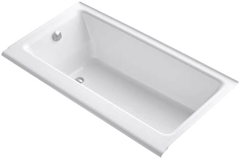drop in cast iron tub faucet k 877 s 0 in white by kohler