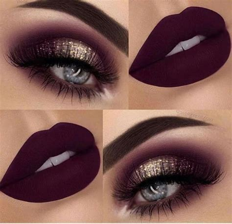 gold burgundy plum makeup eye makeup trendy makeup