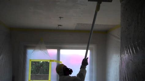 asbestos acoustic ceiling removal youtube