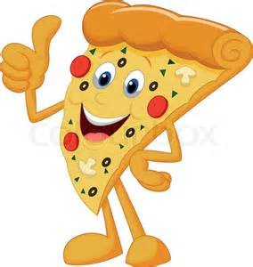 Cartoon Happy Pizza