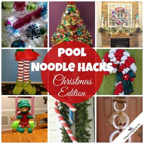 pool noodle hacks christmas edition great craft ideas