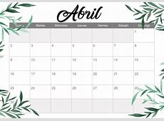 Abril descarga gratis tu calendario listo para imprimir